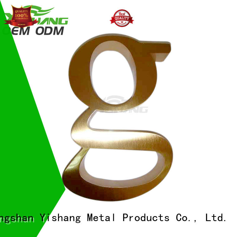 YISHANG letters metal letters for sale for advertising