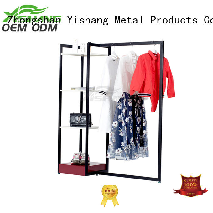 cloth clothing display racks online for shopping mall