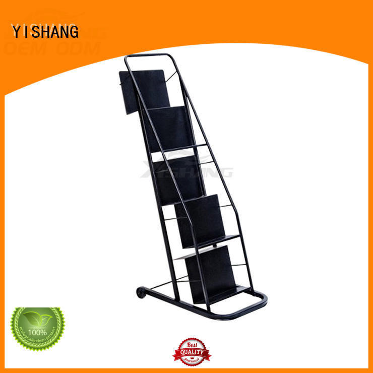 YISHANG high quality book display stand with wheels for sale