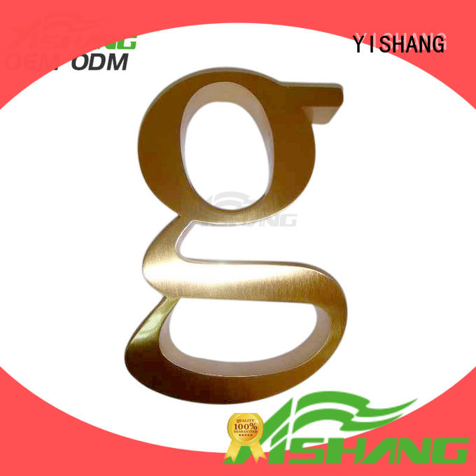 YISHANG metal letters for wall supplier for wall