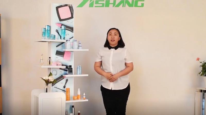 China Custom Floor Metal Cosmetic Display Shelf