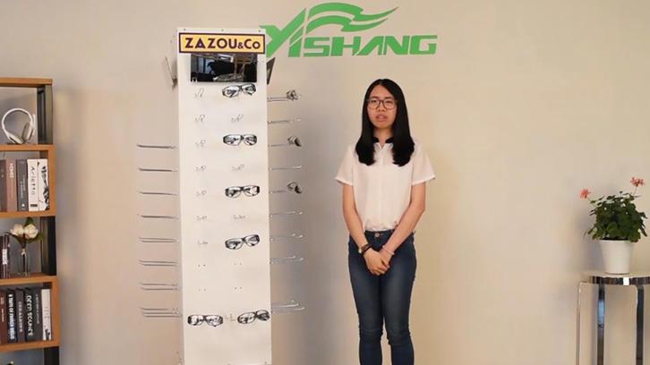 China Custom Free Standing Rotating Metal Glasses Display Stand