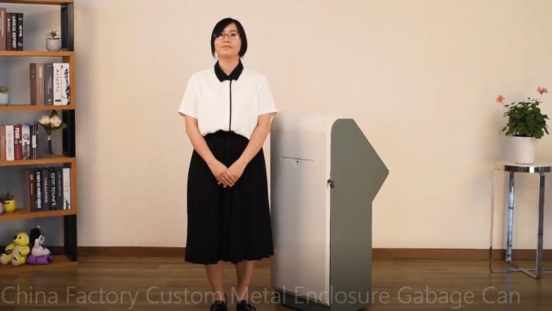 China Factory Custom Metal Enclosure Gabage Can