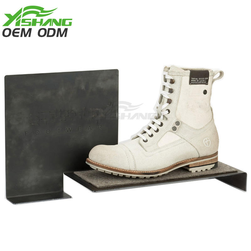 Custom Metal Shoe Display Stand Ideal Table Counter