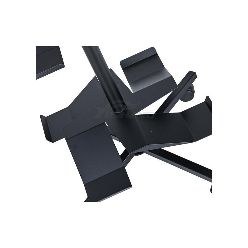 Custom Free Standing Rotating Shoe Store Metal Display Racks