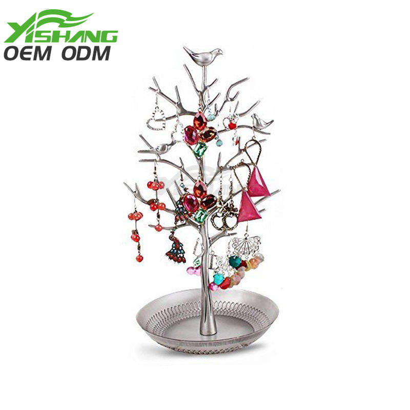 Custom Metal Decorative Jewelry Tree Organizer for Stores