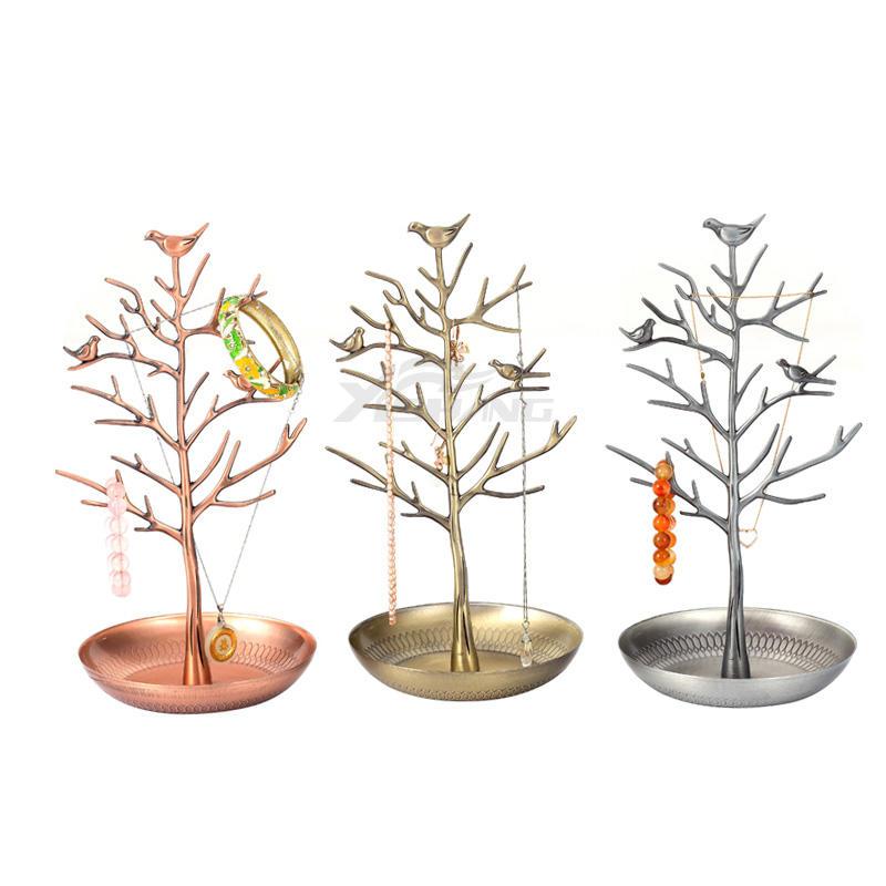 Custom Metal Decorative Jewelry Tree Organizer for Stores