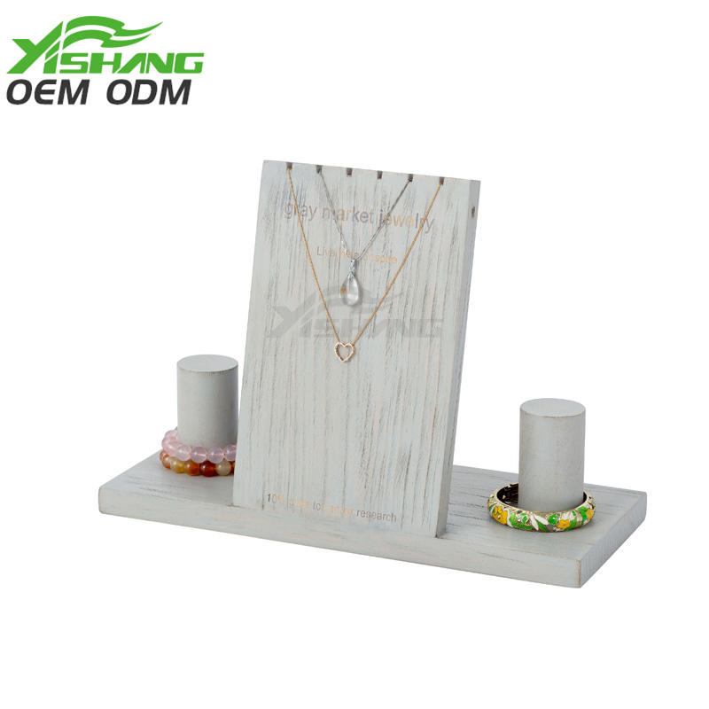 Solid Wood Necklace Bracelets Holder Jewelry Display