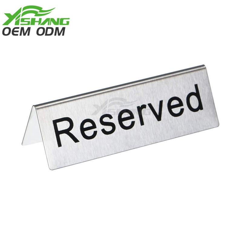 Custom Metal Table Sign Holders Advertising Display
