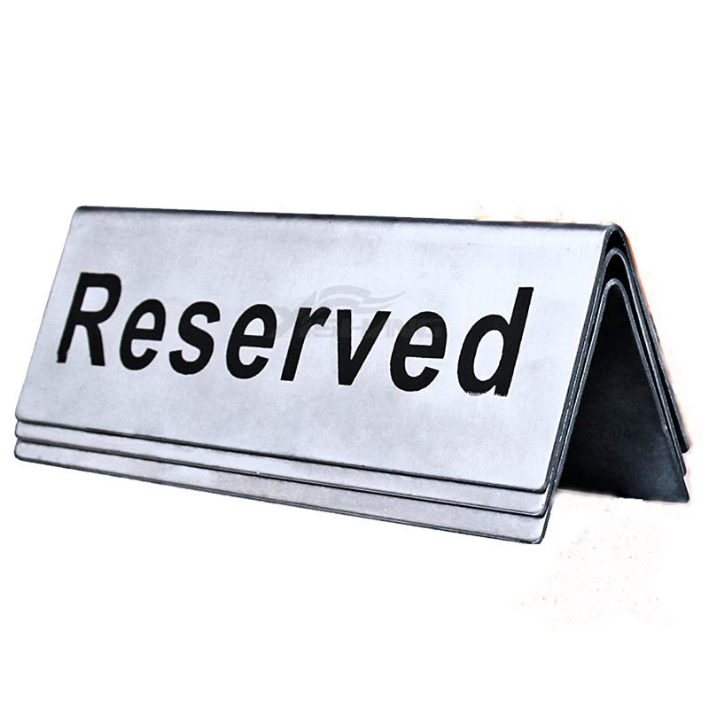Custom Metal Table Sign Holders Advertising Display