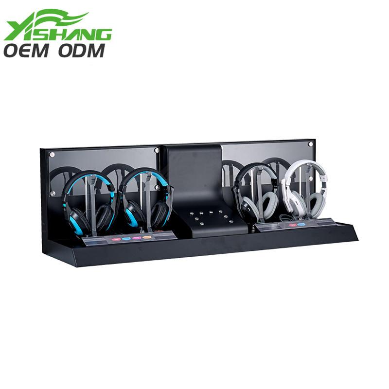 Custom Dual Cool Metal Holder Headphone Display Stand