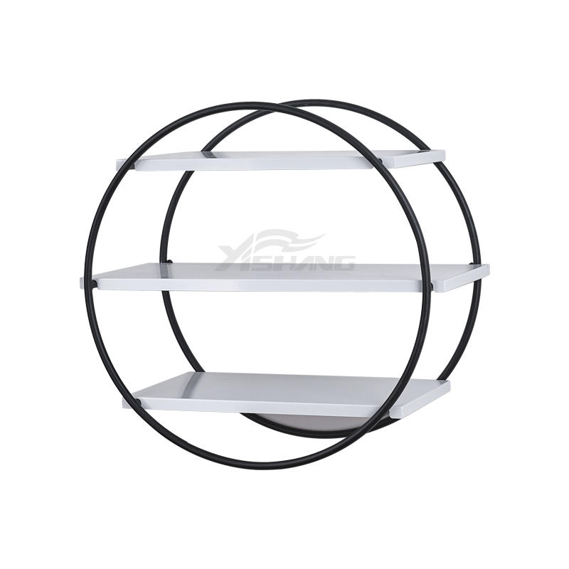 Home Decor Wall-mounted Round Shape Metal Shelf -YS-1700030