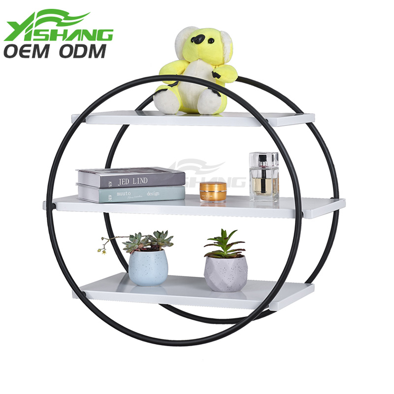 YISHANG -Find Home Decor Wall-mounted Round Shape Metal Shelf -ys