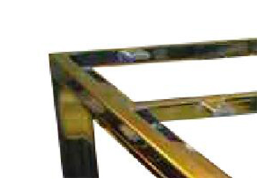 YISHANG -Best Custom Sheet Metal Custom Gold Metal Steel Frames Fabrication Ys-2100128-2
