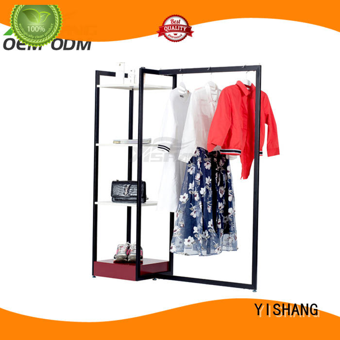 YISHANG cloth clothing display racks online for supermarket