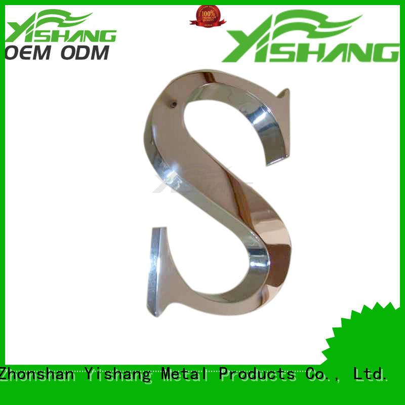 metal wall ys1300005 numbers YSIHANG Brand metal letters supplier
