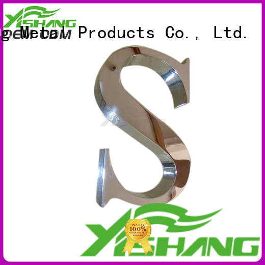 YISHANG metal letters manufacturer for signs