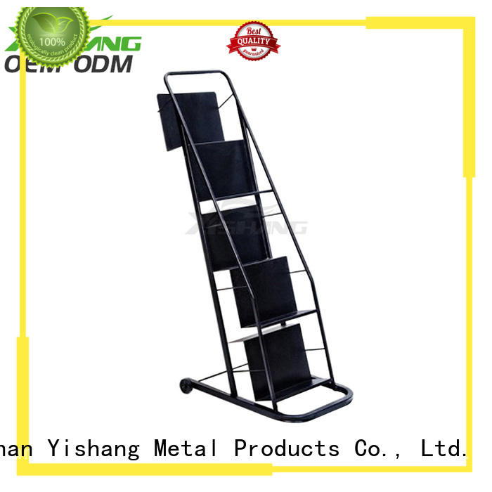 YISHANG high quality book display shelf with wheels for sale