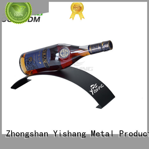 YISHANG clear metal wine racks tabletops for chateau