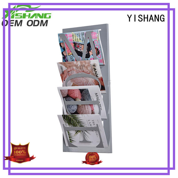 wall mounted book display magizine YISHANG Brand company