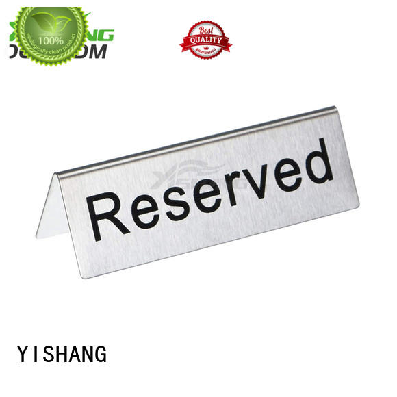 YISHANG stand poster display floor standing for restaurant