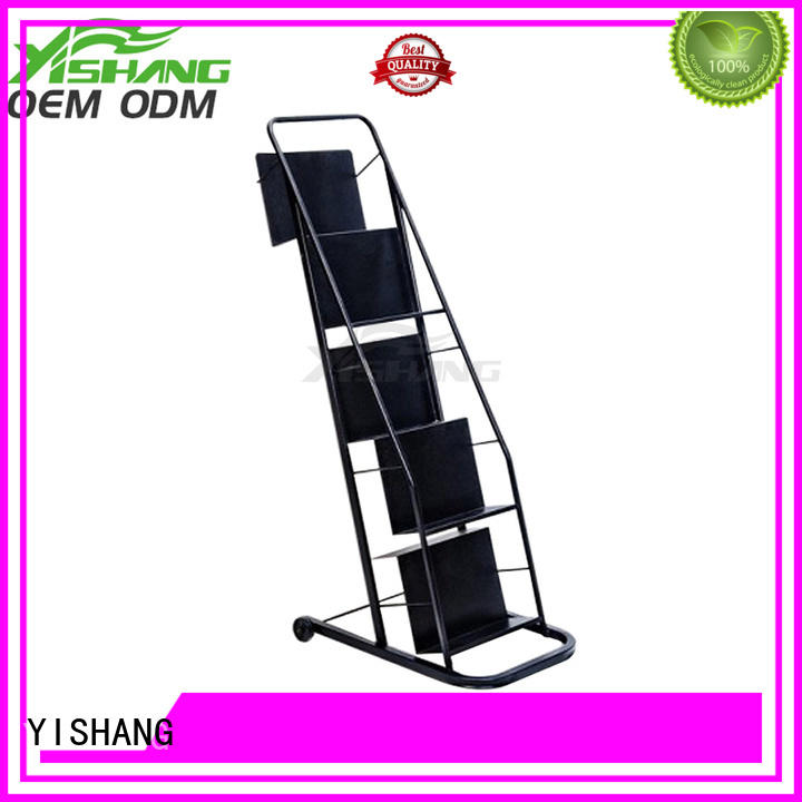 YISHANG metal book display stand magizine for book store