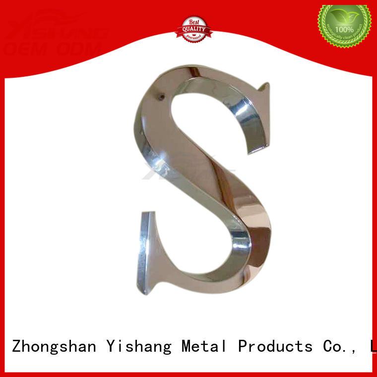 YISHANG letters metal letters manufacturer for shop