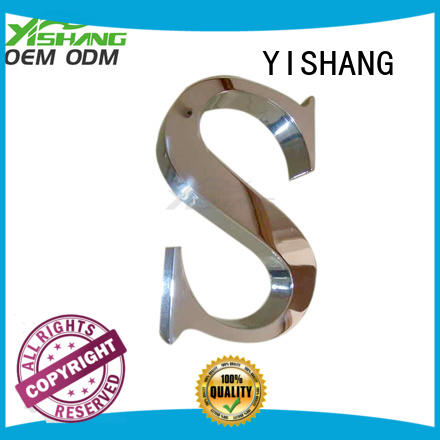 Custom wall metal letters signs YISHANG