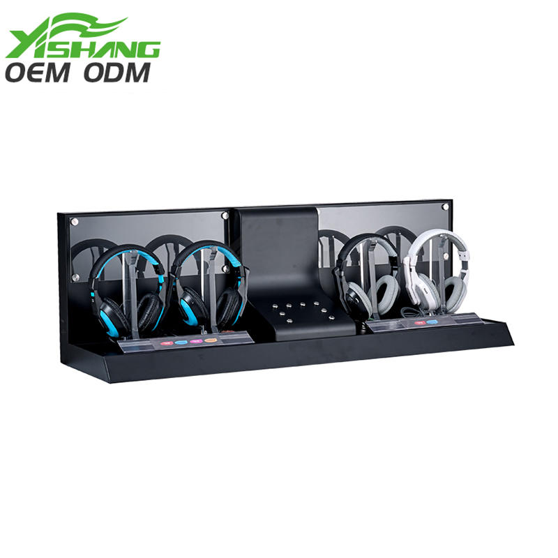 YISHANG -Custom Dual Cool Metal Holder Headphone Stand Ys-1000017 | Metal Headphone