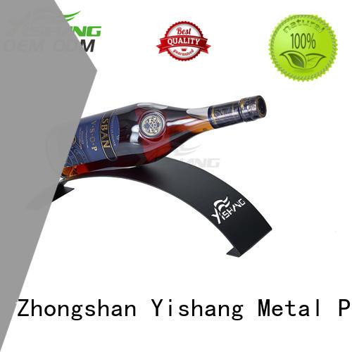 Quality YISHANG Brand wine display rack powder