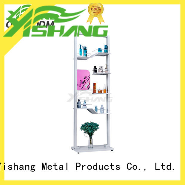 metal makeup stand design for cosmetic stores