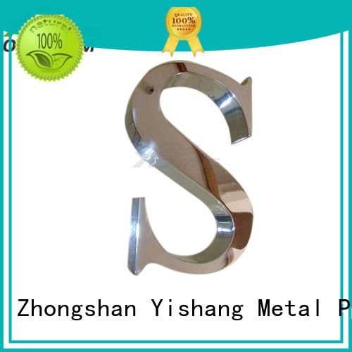 metal numbers YISHANG Brand metal letters for sale