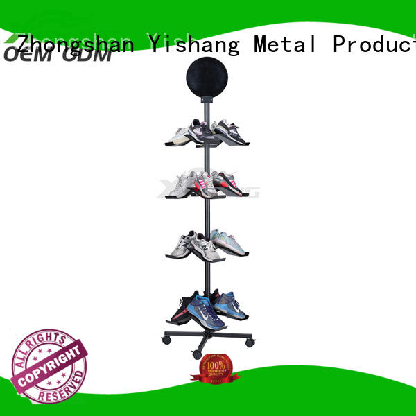 Quality YISHANG Brand rotating standing shoe display