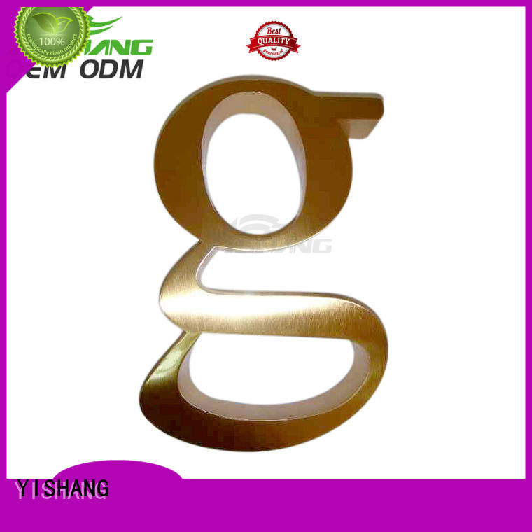 YISHANG Brand wall metal letters letters factory