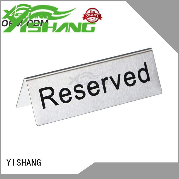 Custom holders metal sign holder YISHANG sign