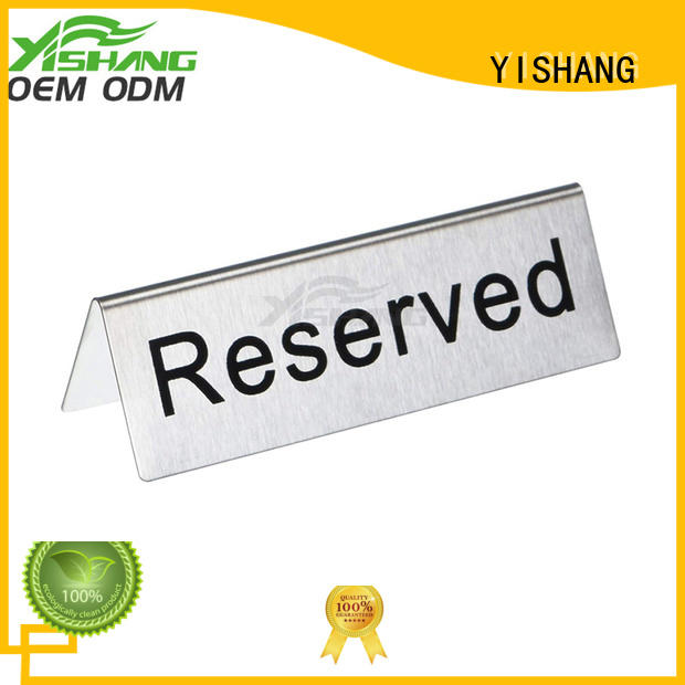 YISHANG sign stand fast delivery for restaurant