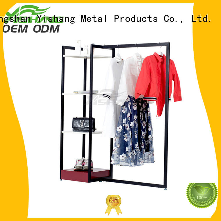 metal garment rack mixed YISHANG Brand clothing racks for sale