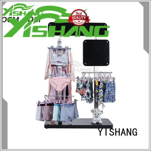 YISHANG cloth clothing display racks with mixed material for supermarket