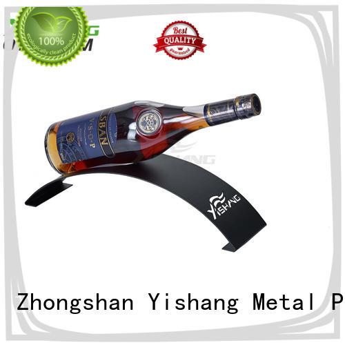YISHANG metal wine racks shaped for bottle