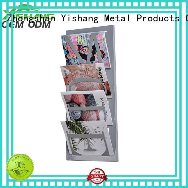 Wholesale wall metal book rack stand YISHANG Brand