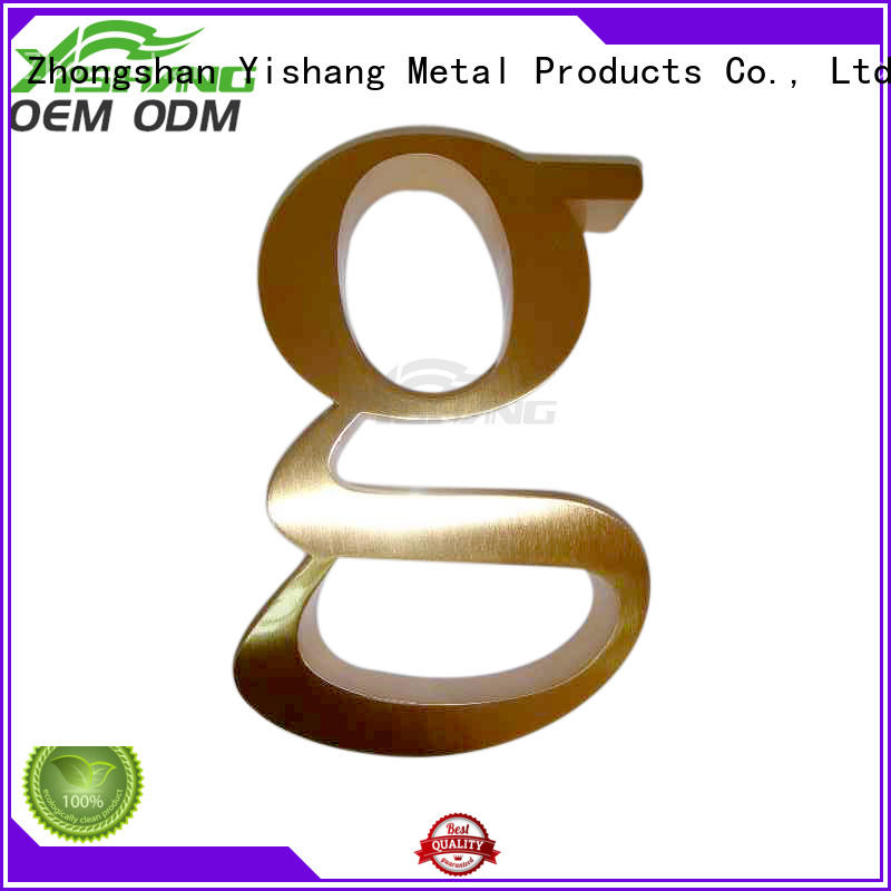 YISHANG metal letters for wall manufacturer for shop