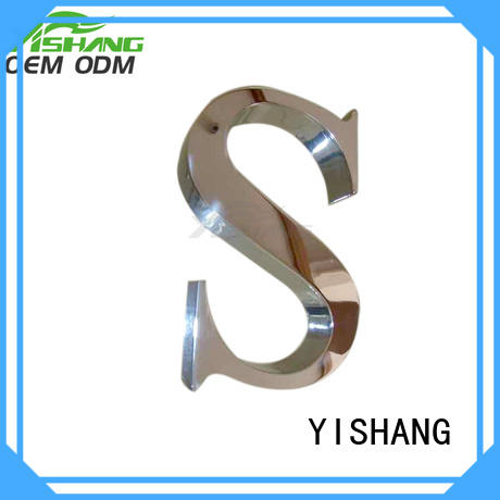 YISHANG metal letters fast delivery for wall
