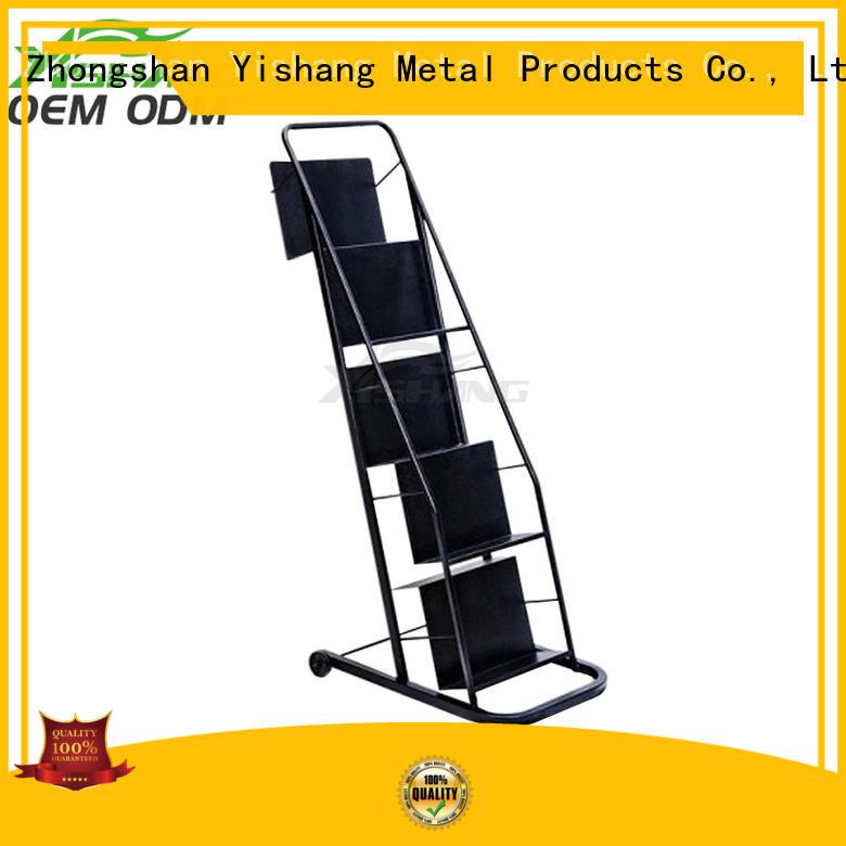 metal book rack display metal Warranty YISHANG