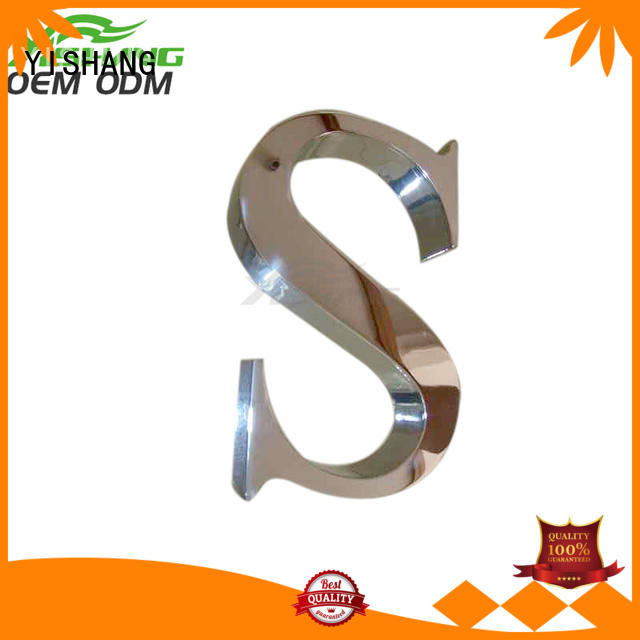 YISHANG metal letters for wall manufacturer for wall