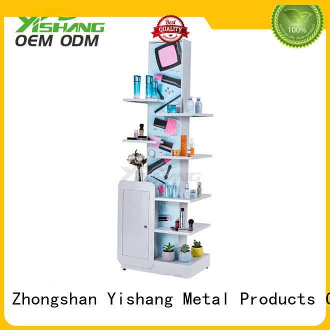 YISHANG lights makeup shelves design for cosmetic stores