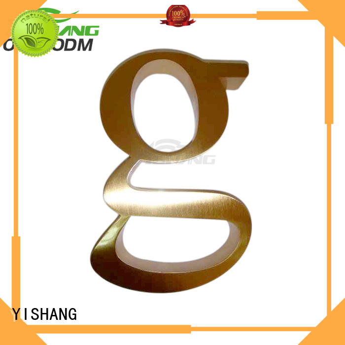wall large YISHANG Brand metal letters for sale