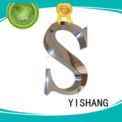 YISHANG metal metal letters fast delivery for advertising