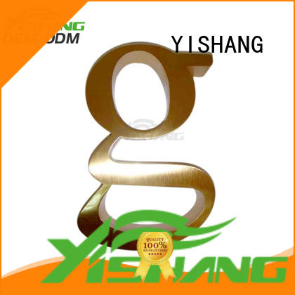 YISHANG metal letters for wall manufacturer for advertising