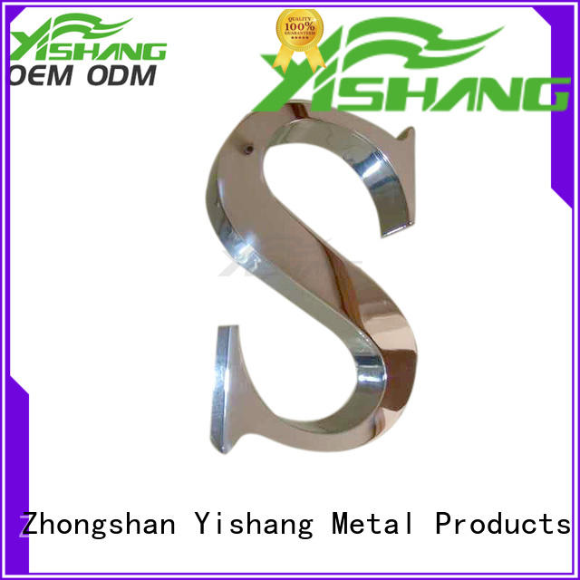 YISHANG steel large metal letters supplier for advertising