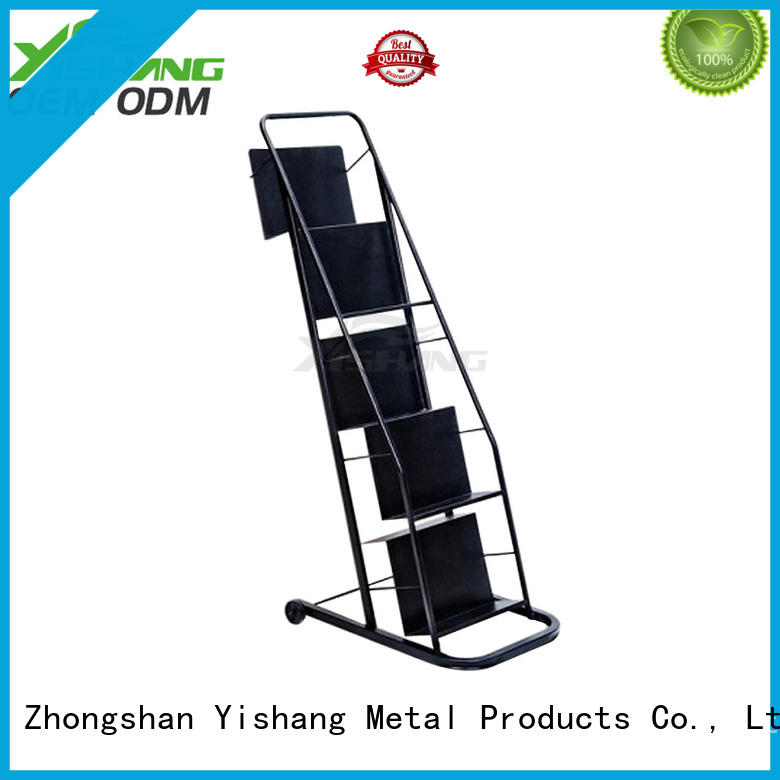 YISHANG tiers metal book stands display for sale